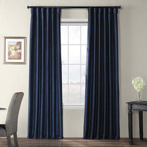 Blackout Faux Silk Taffeta Curtain (1 Panel) ONLY